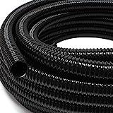 """Wiltec 5m Teichschlauch 25mm (1"""") - sehr flexibel schwarz UV-Beständig"""
