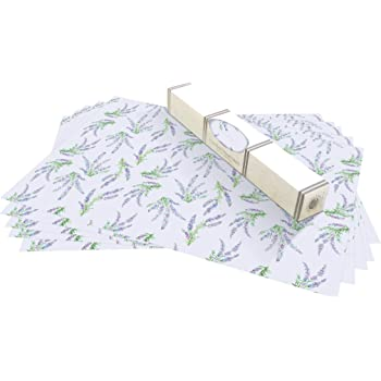 Lavender Fragrant Drawer & Shelf Liners. 5 Pack of Large Scented Rolled Sheets. Made in Suffolk, England.