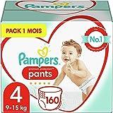 Pampers Couches-Culottes Premium Protection Pants Taille 4 (9-15kg) notre N°1 pour la protection des peaux sensibles, Faciles