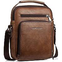 Hjkiopc Umhängetasche Herren Schultertasch Crossbody Handytasche Messenger Bag Herrentasche Shulder Bag Leder…