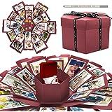 WisFox Explosion Box, Creativo Fai Da te a Sorpresa Esplosione Regalo Scatola Amore Memoria, Scrapbooking Photo Album Gift Bo