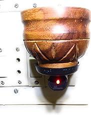 90 Degree Camphor Diffuser Wooden Oil Aroma Insence Electric Direct Plug Holder,Bakhur Dani,Dhoop