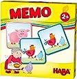 HABA 303759 - HABA-Lieblingsspiele – Memo Bauernhof   Memo-Spiel mit 16 extragroßen Karten   8 Kartenpaare mit bunten Bauernhofmotiven   Spiel ab 2 Jahren