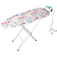 Magna Homewares Marino Extra Large Ironing Board with Ironing Rest,Height Adjustment and Fire Retardant Padding-Words