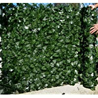 Best Artificial English Ivy Leaf Screening Roll 3m x 1m Privacy Hedging Wall Landscaping Garden Fence UV Fade Protected, Green