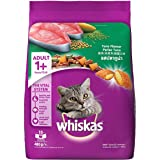 Whiskas Adult (+1 year) Dry Cat Food, Tuna Flavour, 480g Pack