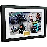 """7 Times World Champion Celebration Edition"" - A4 12x8 Signed Lewis Hamilton - Mercedes-AMG Petronas - Autographed Photo Phot"