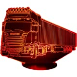 SCA. (3), Lampada illusione 3D con LED - 7 colori.