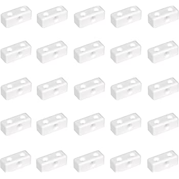 50x White Modesty Blocks Ideal For Connecting /& Supporting