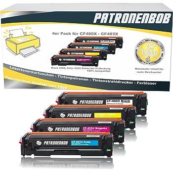 4x Eurotone ECO Patrone XXL ersetzt HP CF400X CF401X CF402X CF403X 201X