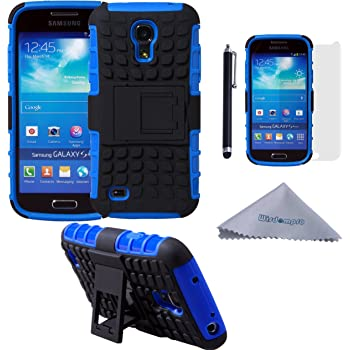 0b11d279da5a Wisdompro Galaxy S4 Mini Case, [2 Piece in 1] Dual Layers [Heavy Duty] Hard  Soft Hybrid Rugged Protective Case with [Foldable Kickstand] for Samsung ...