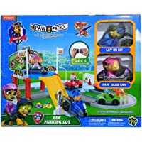 HALO NATION Paw Patrol Parking Lot - Track Toy - with Chase & Skye (Multicolour)