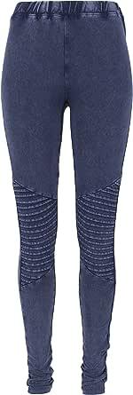 Urban Classics Ladies Denim Jersey Lgs Jeans Leggings Donna
