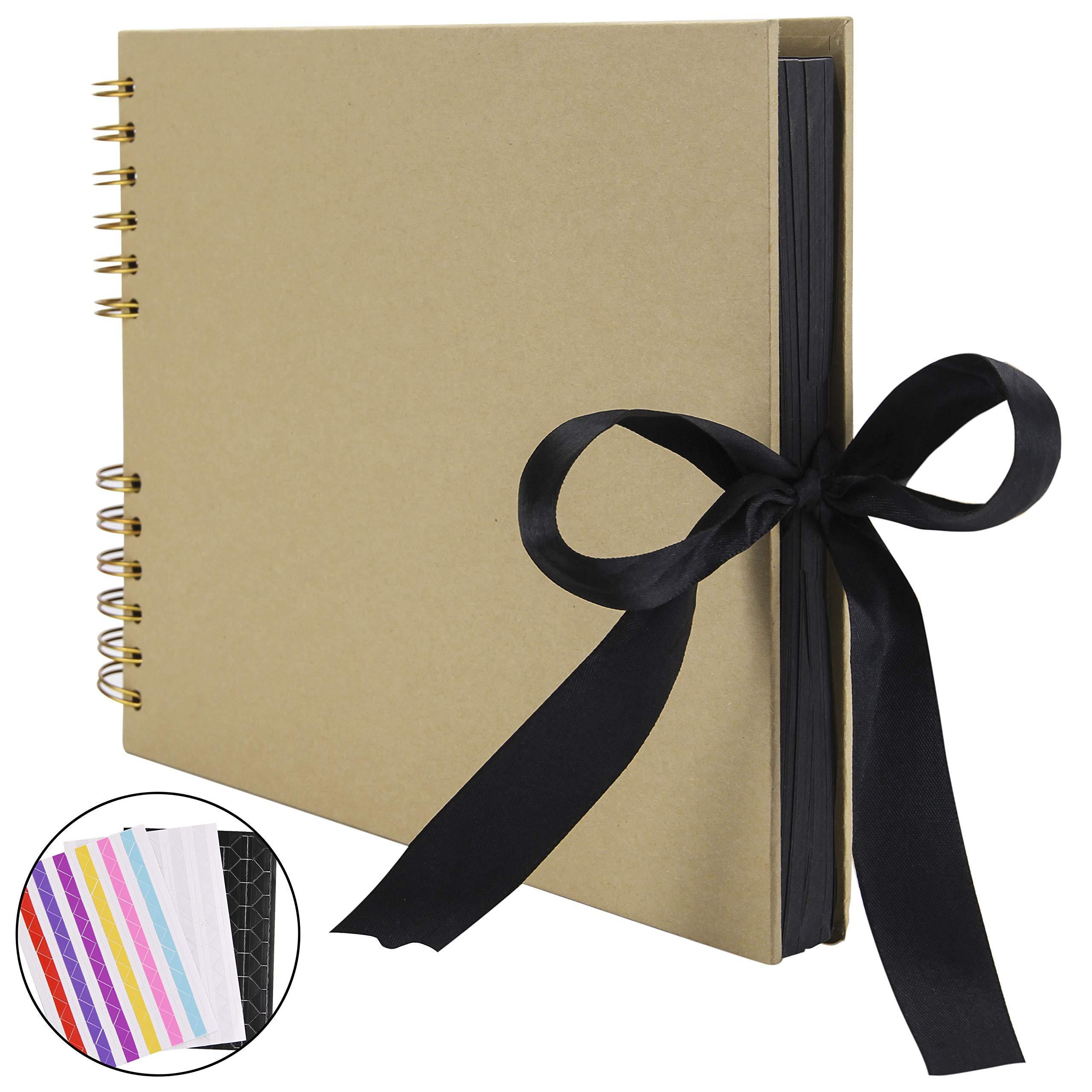 RECUTMS Álbum de Fotos para álbum de Recortes, 80 páginas, DIY Papel para Manualidades, 31,75 x 20,32 cm, para Libro de Invitados, Boda