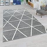Tapis Salon Pastel Moderne Scandinave Losanges, Dimension:70x250 cm, Couleur:Gris