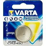 Pila de botón de litio de 3 V VARTA Electronics CR2450, pilas de botón en un blíster original de 1 unidad