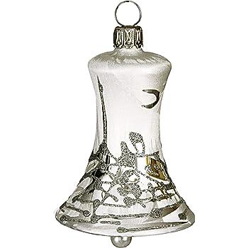 Christbaumschmuck Glocke Antik Silber 5cm Jingle Bells Lauscha Fur
