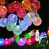 Globe String Lights , COOLAPA 50LEDs 26FT LED Fairy Lights, USB/Solar Powered IP65 Waterproof , 8 Modes Christmas Lights Indo