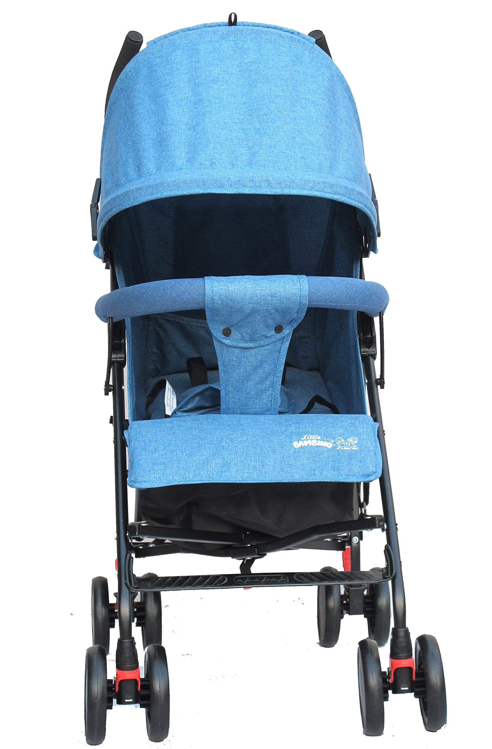 Stroller for Kids Lightweight Buggy Easy Fold Travel Stroller Buggy Foldable for Travel (Blue) Little Bambino ✨Extendable upf 50+ sun canopy and built-in sun visor ✨EASY USAGE - One-hand foldable buggy makes taking your baby for travels or walks a simple pleasure. It could stand on its own so you could take care of your baby with less things to worry about. ✨ADJUSTABLE BACKREST - Travel stroller backrest can be adjusted. Suitable for children from 0 to 36 months 2