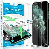 واقي شاشة Power Theory لهاتف iPhone 11 Pro [2 حزمة] مع عدة تركيب سهلة [زجاج صلب ممتاز لهاتف iPhone 11Pro]