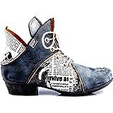 TMA Scarpe da donna 8818 | alla moda | Stivali da donna | con lacci | vera pelle | diversi colori | taglie 36-42