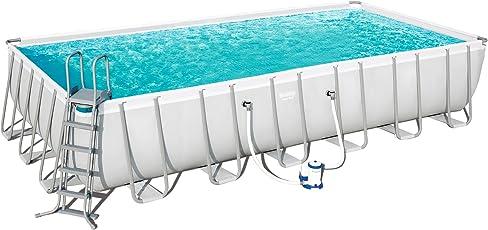 Bestway Pool Power Steel Stahlrahmen-Pool-Set 549 x 274 x 122 cm + Zubehör