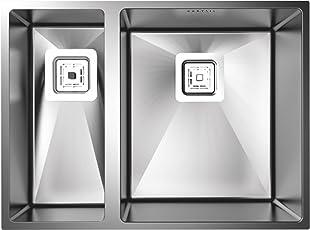 Carysil Quadro Q10 Double Bowl Sink 23x17x8