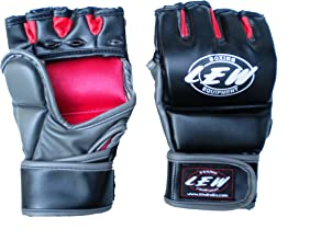 LEW Graplling Training MMA Gloves (Black)