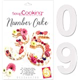 SCRAP COOKING 3927 Gabarits pour Number Cake, Plastique Pet apte au Contact Alimentaire, Hauteur des Chiffres : 28 cm