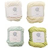 Knitting Yarn, Crochet Yarn, Mindfulness and Relaxation 100 Percent Cotton Yarn, Multicolor 4-Pack Medium Number 4 Worsted Bu