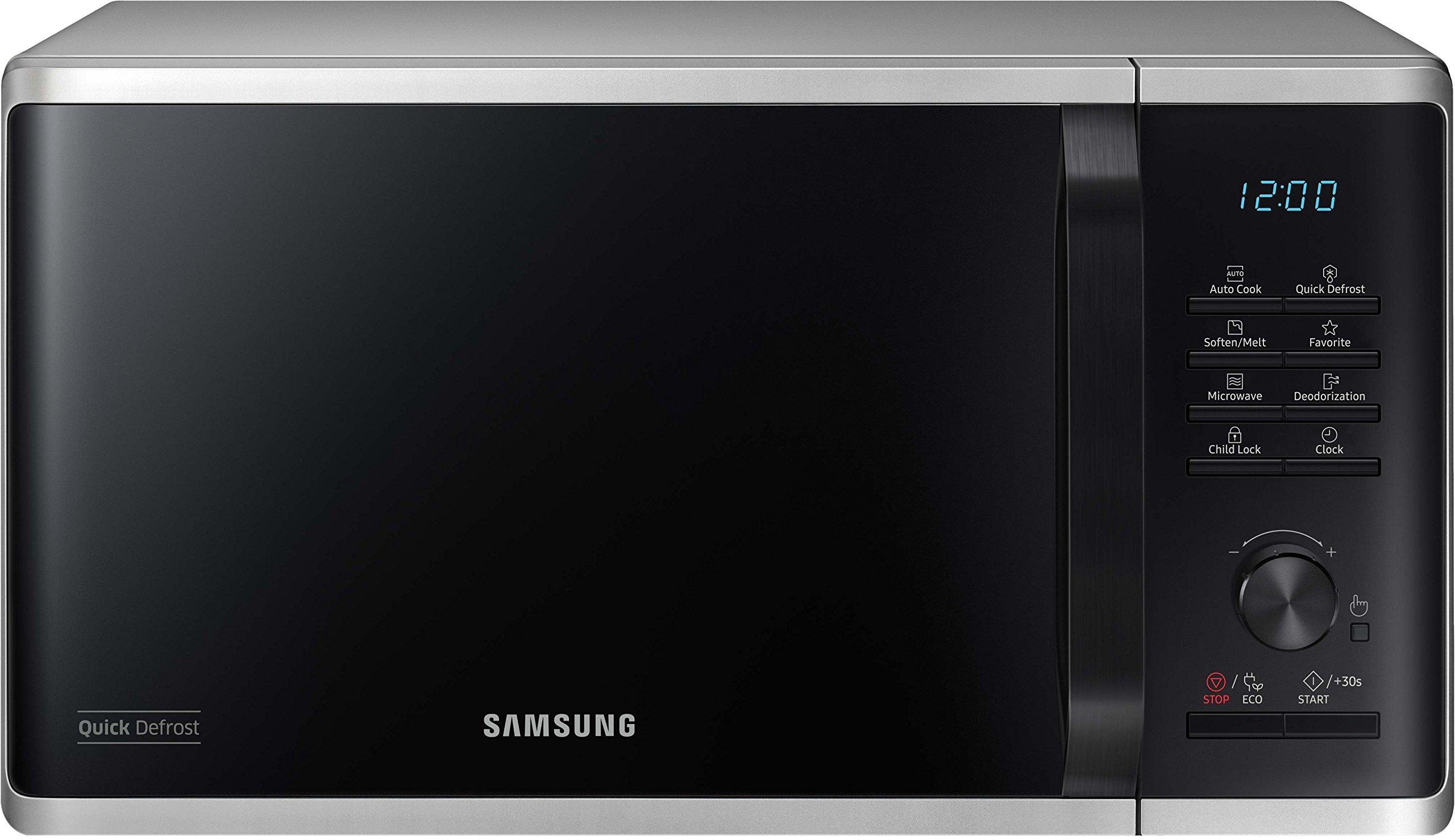 Samsung MS23K3515AS/EG Solo-Mikrowelle, 800 Watt, 23 Liter, Keramik-Emaille