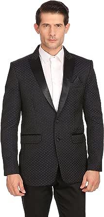 LUXURAZI Knitted Tuxedo Blazer with Satin Peak Lapel