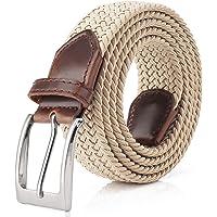 Fairwin Cintura Elastica Intrecciata per Uomo e Donna, Confortevole Cintura in Tessuto Elastico Stretch, per Jeans…