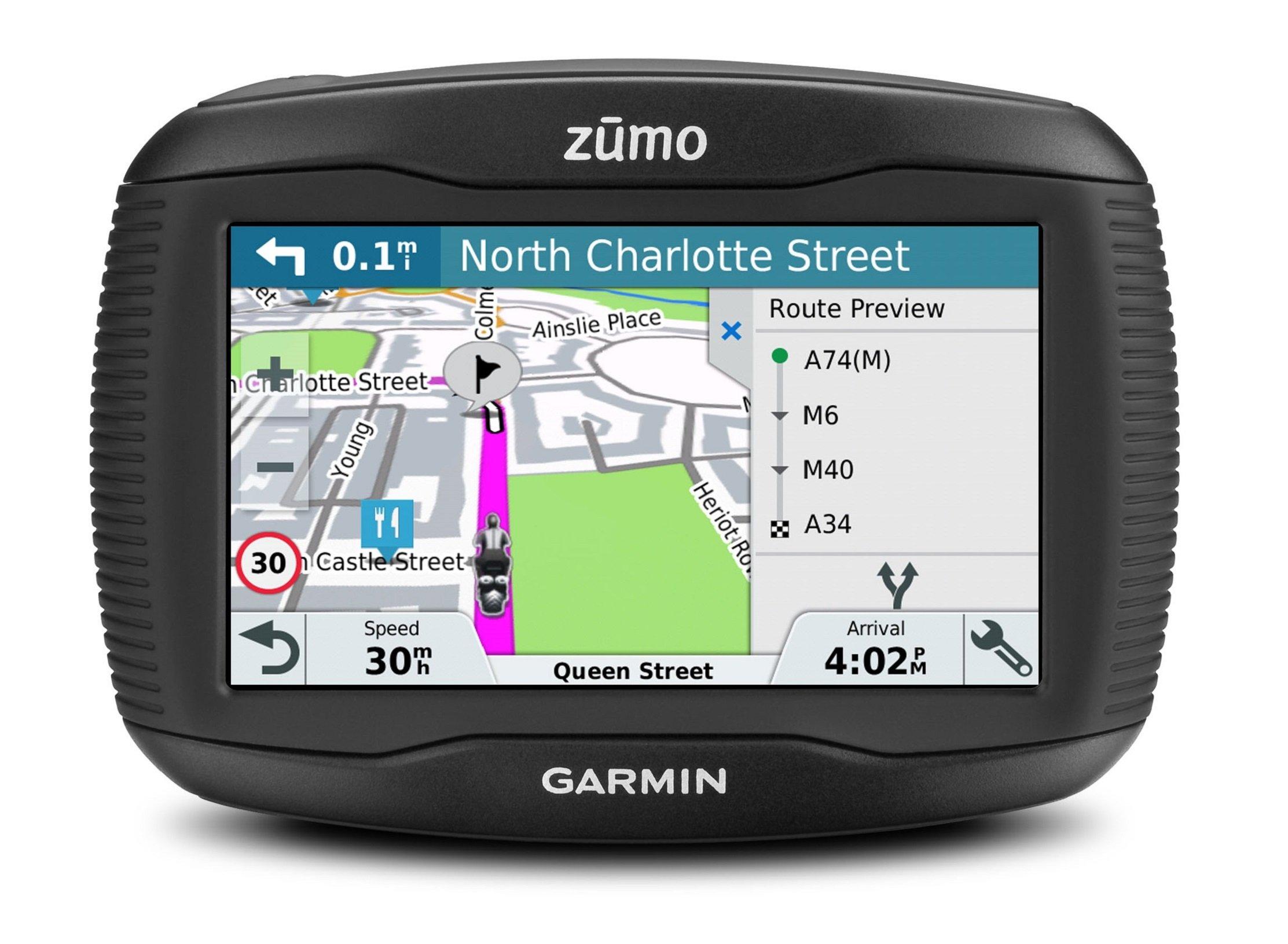 Garmin-zumo-Motorradnavigationsgert-Touchscreen-lebenslange-Kartenupdates