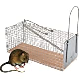 TK Gruppe Timo Klingler XXL Lebendfalle Rattenfalle Maderfalle Falle Kastenfalle lebend Käfigfalle Tierfalle Mausefalle für Maus, Ratte, Mader UVM. Drahtkastenfalle mit Ködervorbau und Falltür