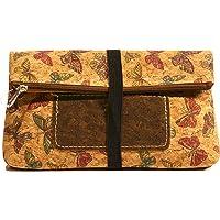 CORKCHO Damen-Tabaktasche für Mädchen, Make-up-Tasche mit Reißverschluss, elegant, natürlicher Kork mit Reißverschluss