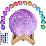 CooPark Maan lamp heelal Nachtlampje 3D-printen Dimbaar Maanlicht 16 kleuren & afstandsbediening & aanraakbediening & USB opl