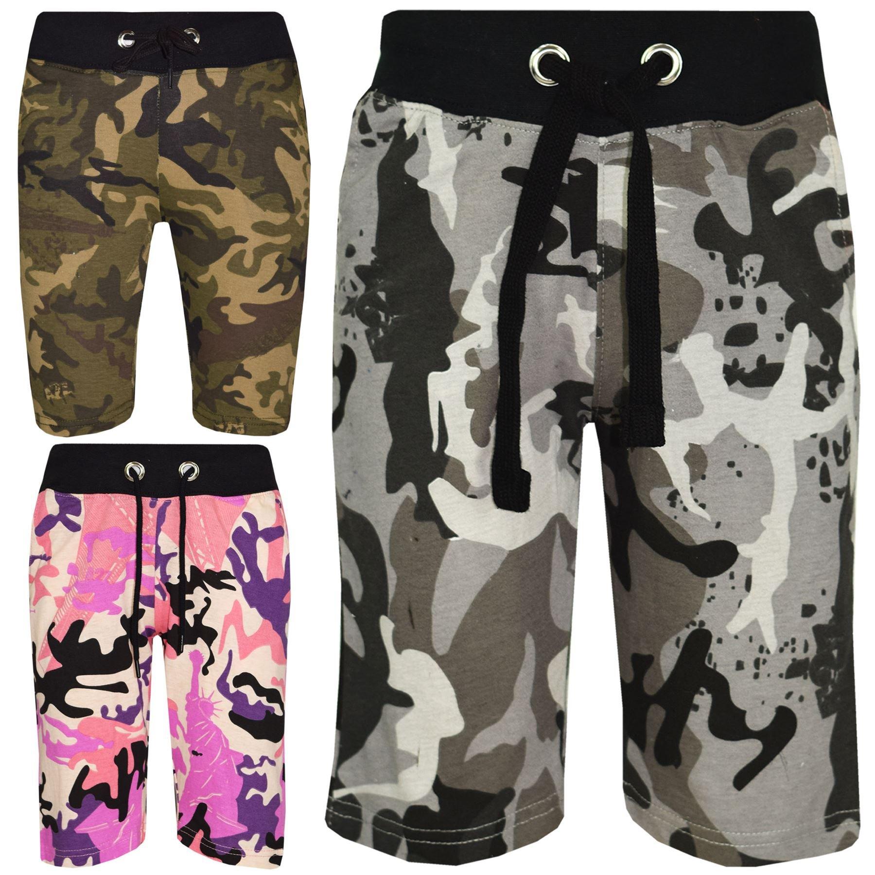 0eba70707 A2Z 4 Kids® Kids Shorts Girls Boys Designer's Camouflage Print ...