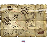 Folat 07659 Red Pirate Treasure Map-4 Pieces