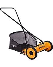 Sharpex Classic Push Manual Lawn Mower with Grass Catcher (Multicolour)
