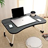 Gudi Laptop Table with Cup Holders &Tablet Holder Non-Slip Legs Multipurpose Foldable and Portable Lapdesk for Study {Multi C