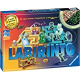 Ravensburger 26692 Labirinto Glow in The Dark, Versione Italiana, Gioco di Società, 2-4 Giocatori, Età Raccomandata 7+, 2 Mod
