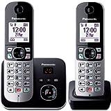 Panasonic KX-TG6862JTB Telefono Cordless DECT Doppio (Twin Pack) con Segreteria Telefonica, Vivavoce, Ampio Schermo…