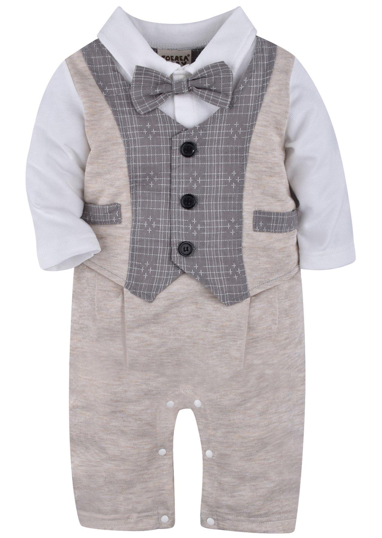 ZOEREA 1pc Kinder Baby Kleinkind Junge Kleidung Spielanzug Bodysuit Kleidung Gentleman Gesamtkind Sommer Kleidung…