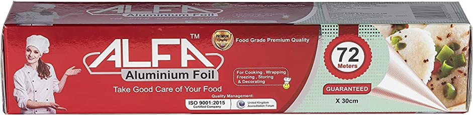 ALFA Food Grade Aluminium Foil 72 Meters Guaranteed