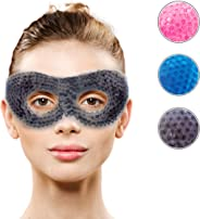 Gel Eye Mask with Eye Holes- Hot Cold Compress Pack Eye Therapy | Cooling Eye Mask for Puffy Eyes, Dry Eyes, Headaches, Migr