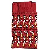 Asditex Juego de Sábanas Coralina Infantil Mickey Mouse, 3 Piezas (1 Sábana Encimera, 1 Funda de Almohada y 1 Sábana Bajera),