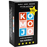 Komojo Nouveau Jeu de 480 Cartes - Jeux de société Soirée Apéro Ambiance Fun Entre Amis ou Famille - Devine des Mots en Mime