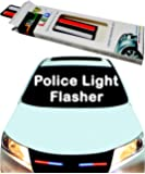 U & U UNIQUE UTILITIES 12V Car Police Light Flasher Accessory (Red/Blue)