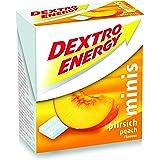 Dextro Energy Minis perzik/mini druivensuiker tafeltje met snel beschikbare glucose voor onderweg / 1 verpakking (1 x 50 g)
